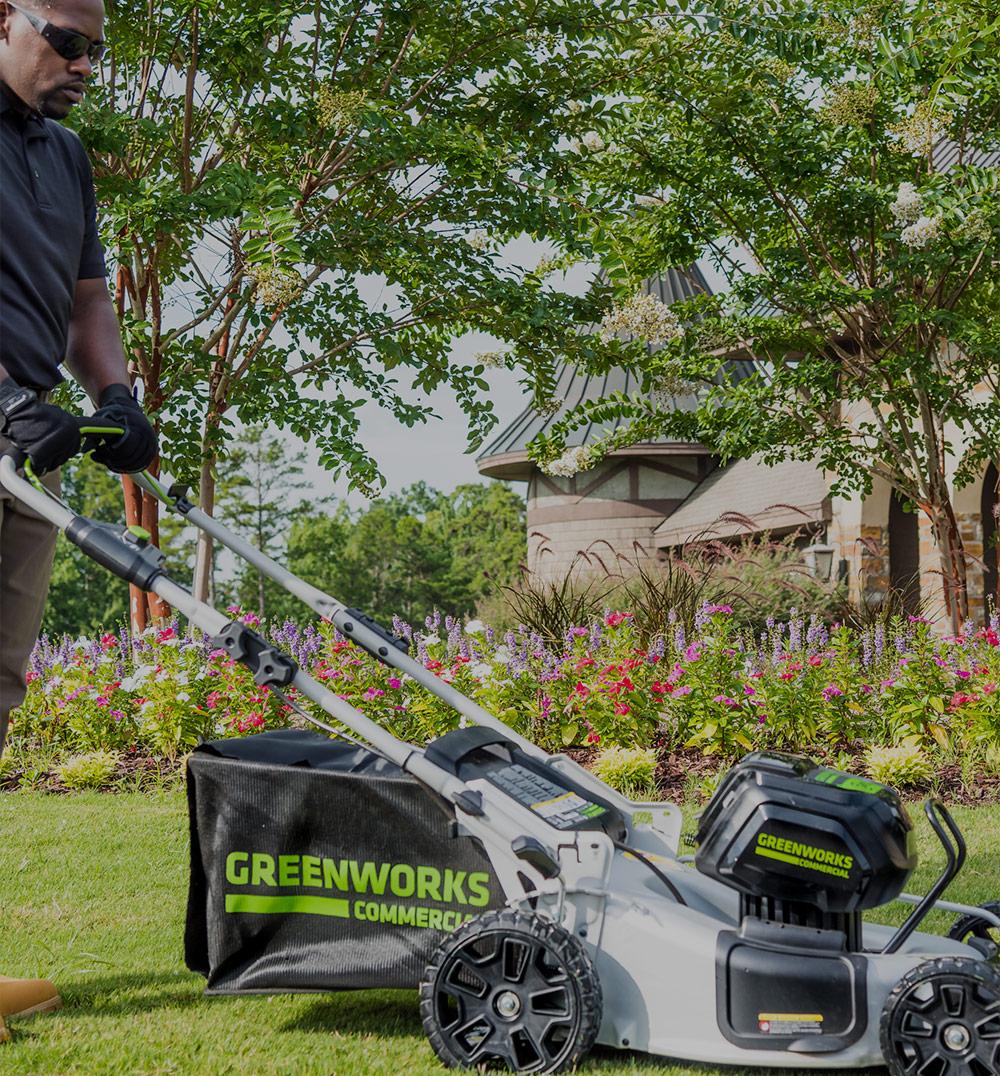 Walk Behind Lawn Mowers | Greenworks Commercial