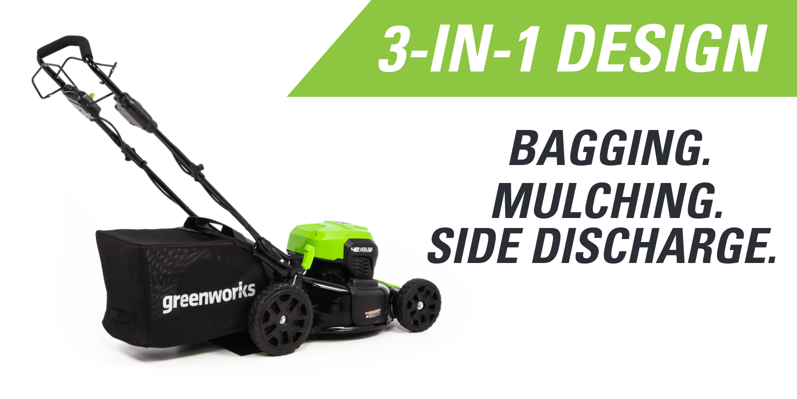 48SPM21 48V Self-Propelled 21-Inch Lawn Mower | Greenworks Commercial