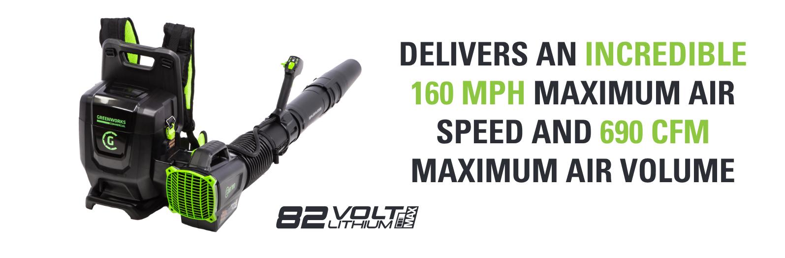 82V Backpack Blower   Greenworks Commercial