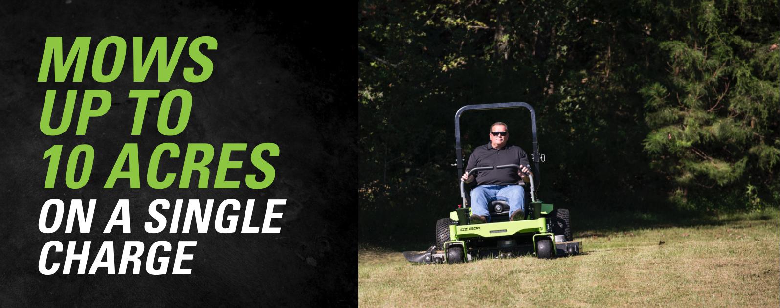 GZ60R 82 Volt Ride-On Zero Turn Mower | Greenworks Commercial