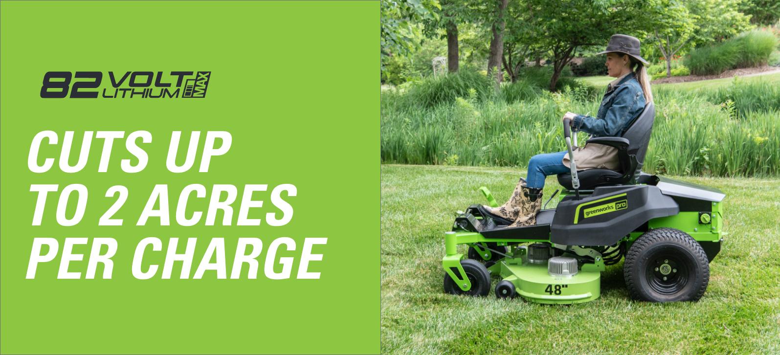 48V Residential Ride-On Zero Turn Mower | Greenworks Commercial
