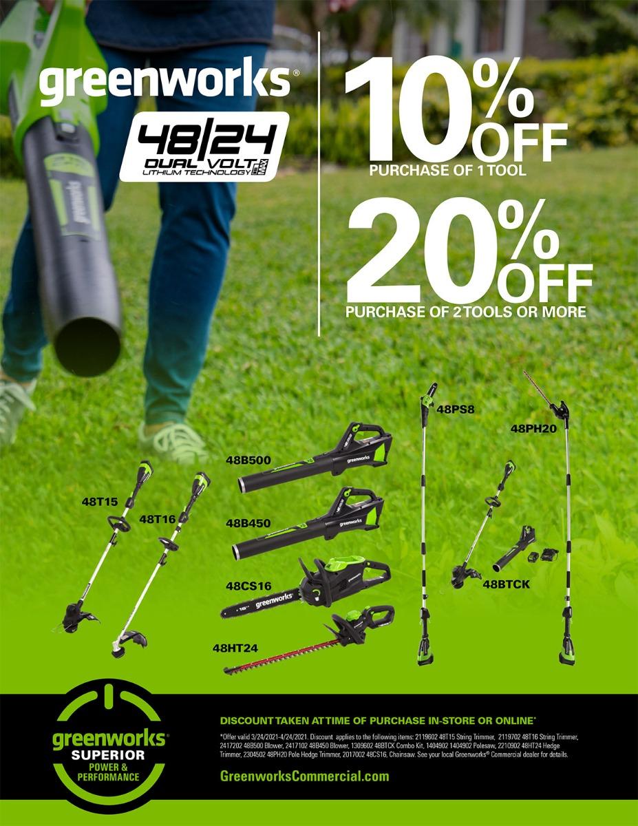 Spring Promotions | Greenworks Commercial